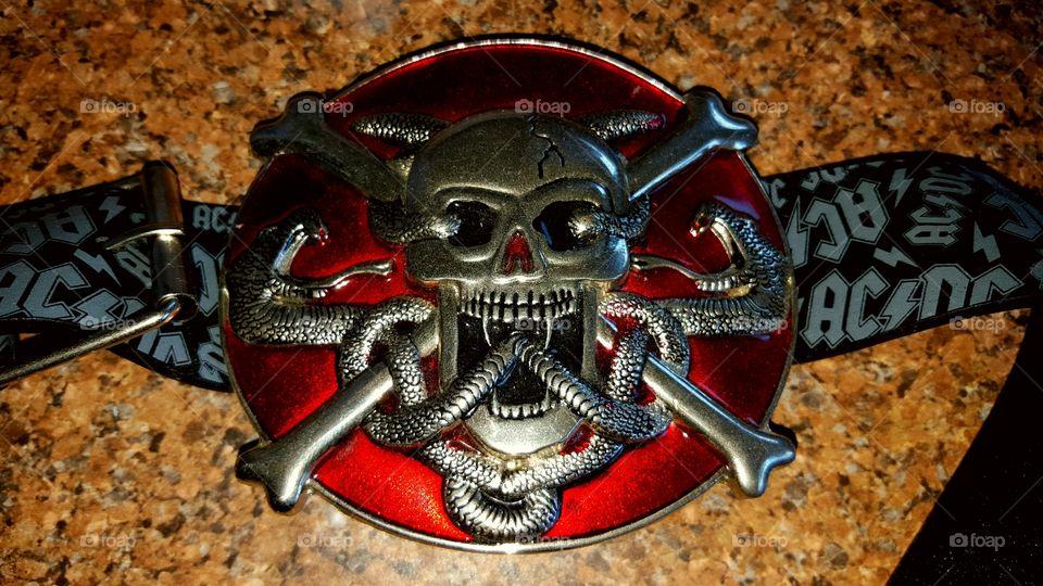 skull with crossbones medallion