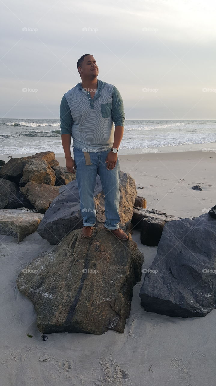 Me standing at Long Beach