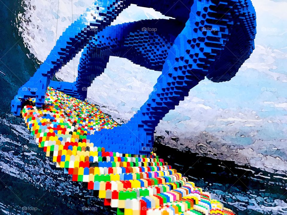 Surfer made of LEGO!