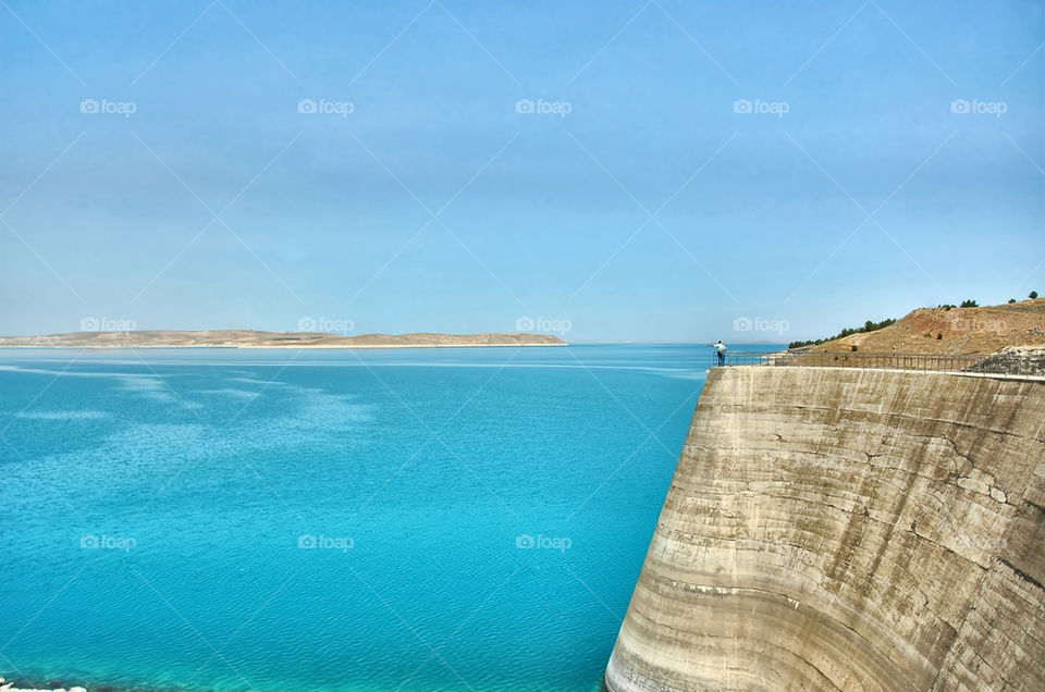 Lake of Atatürk Dam
