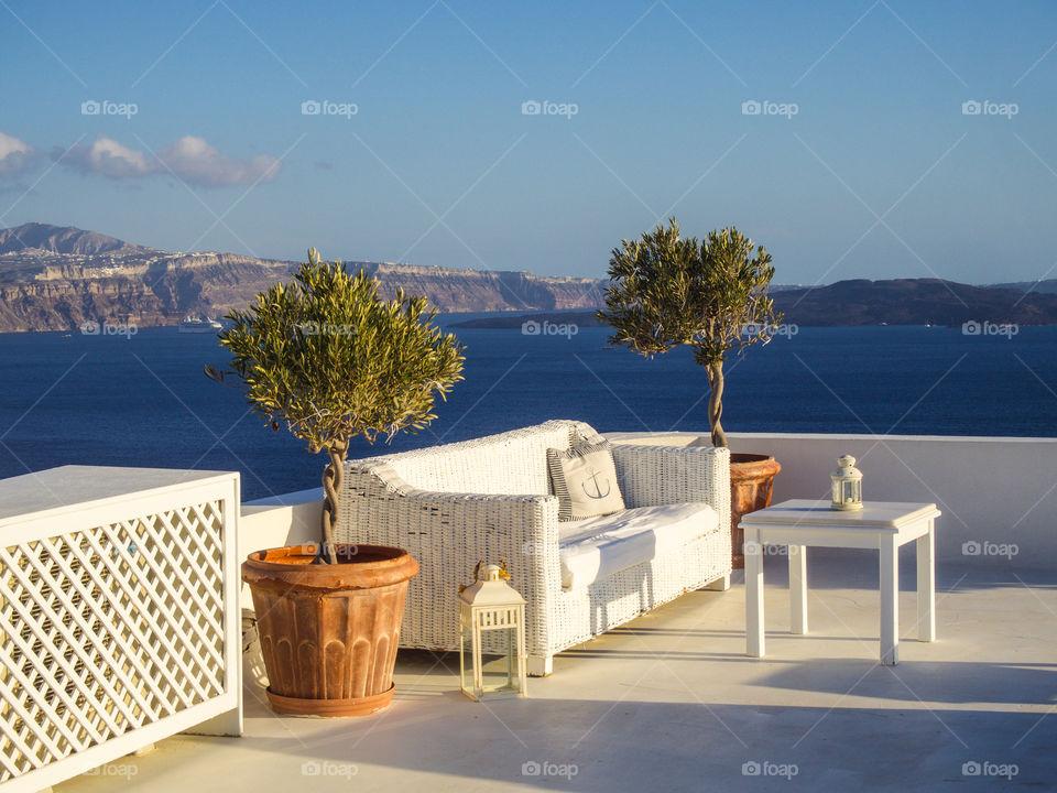 Santorini view.
