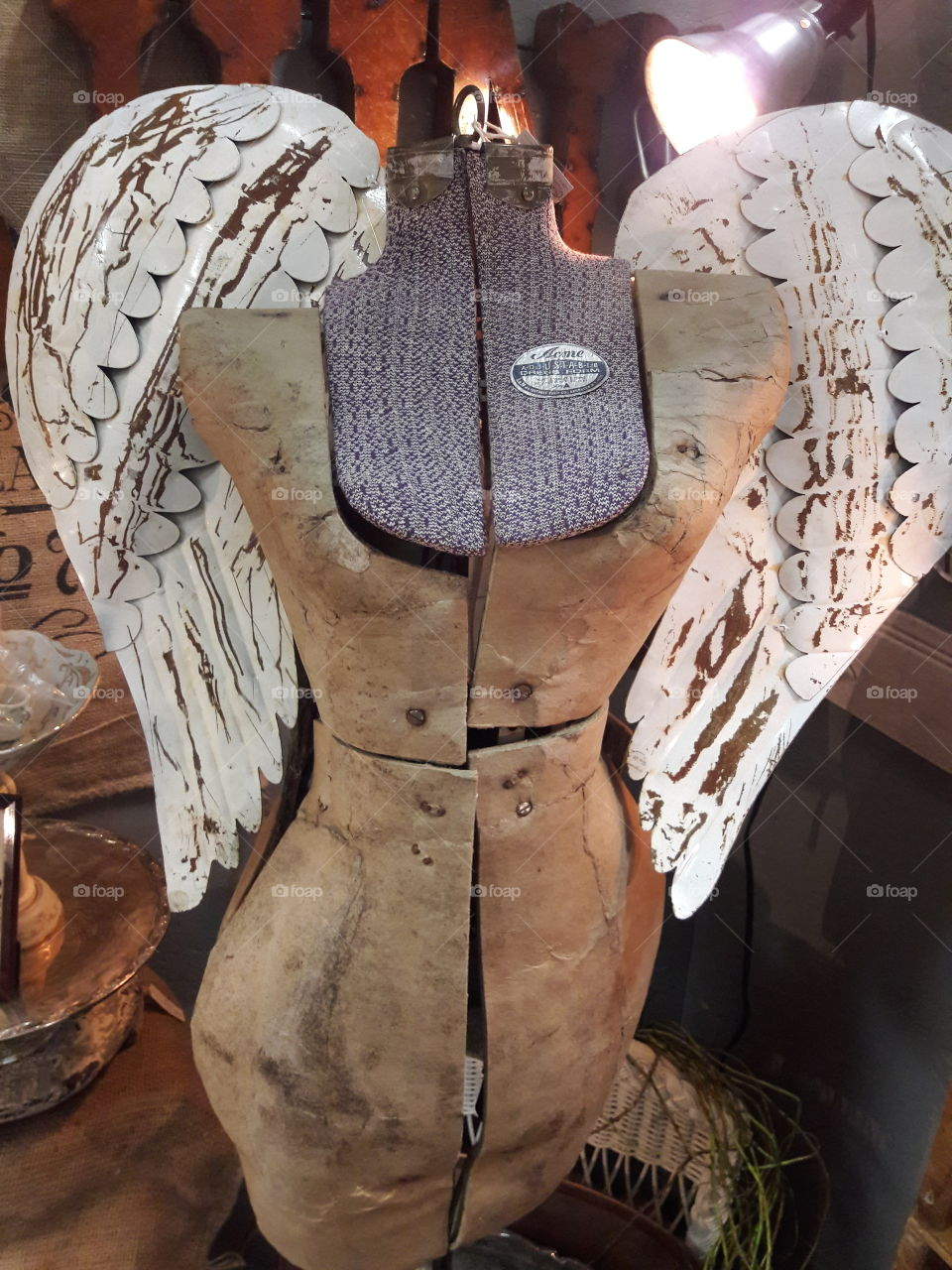 Antique Angel Dress Mannequin