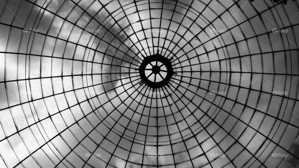 Glass dome roof