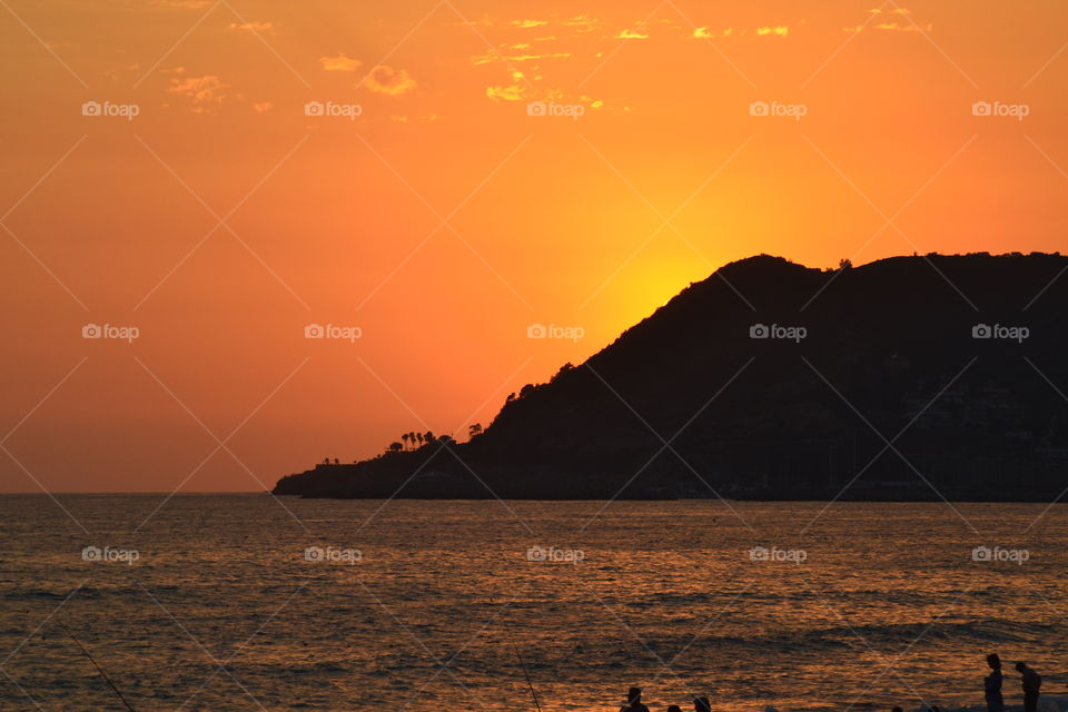 View of sea during sunset