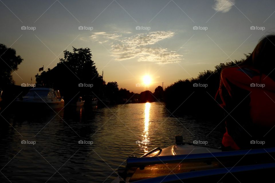 Sunset / Germany / boat trip