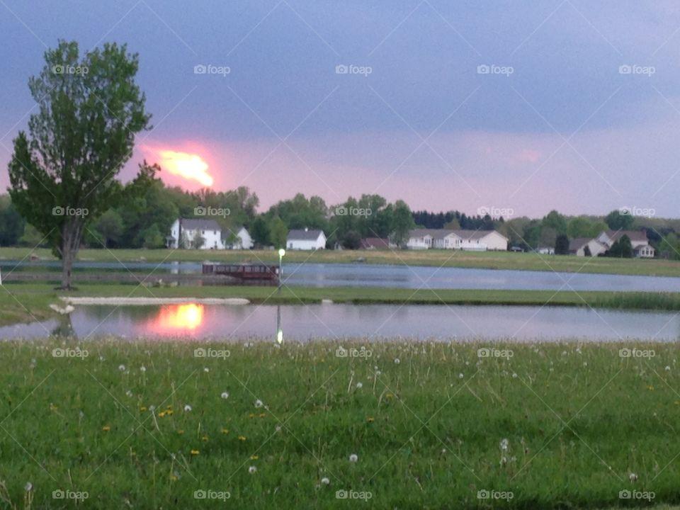 Sunset Lake. Sunset Lake