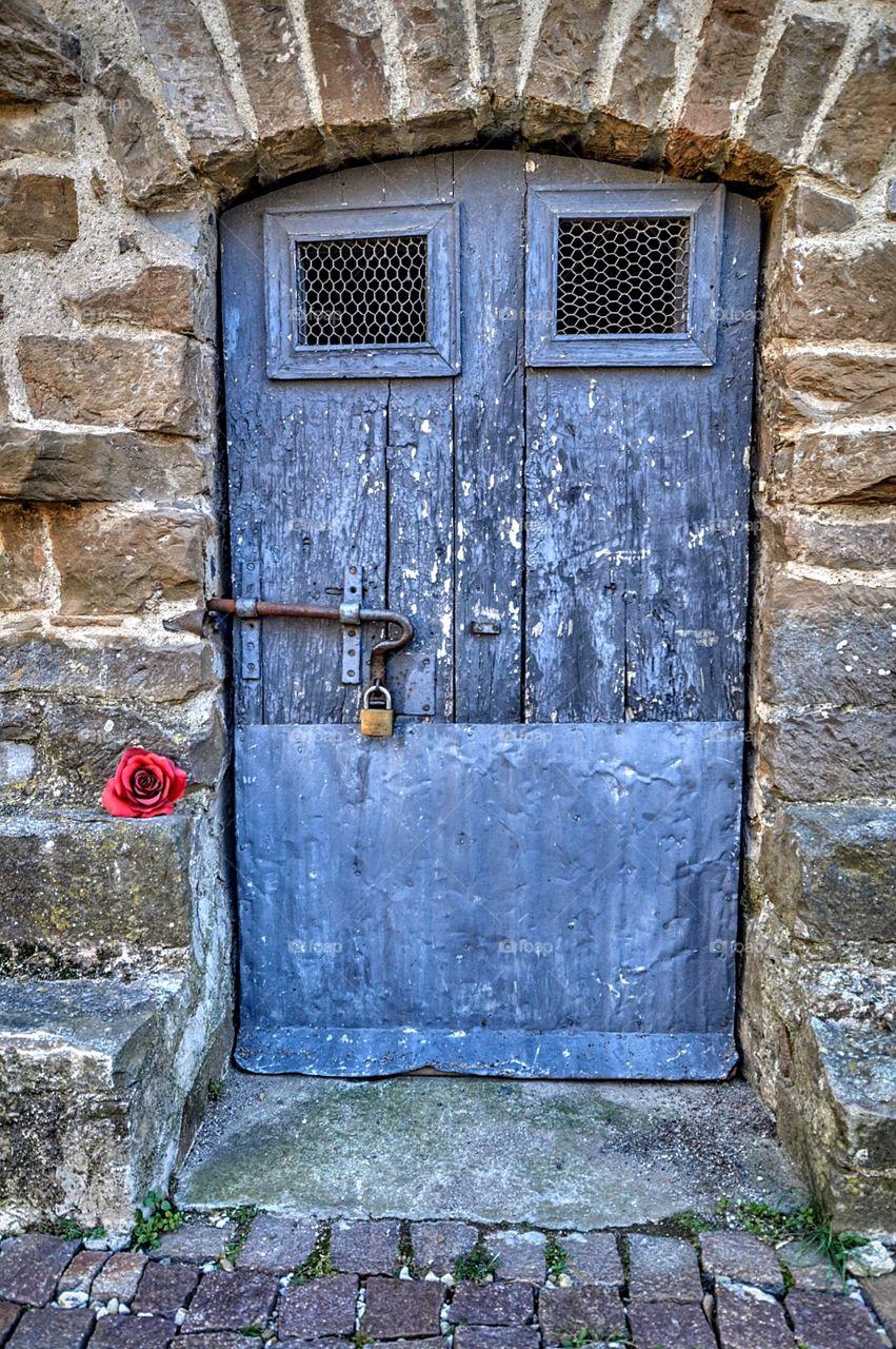 Old door of a house