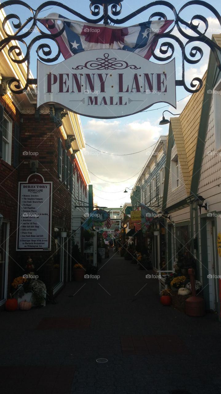 Penny Lane Mall. a quaint little shopping bazaar in an alley...