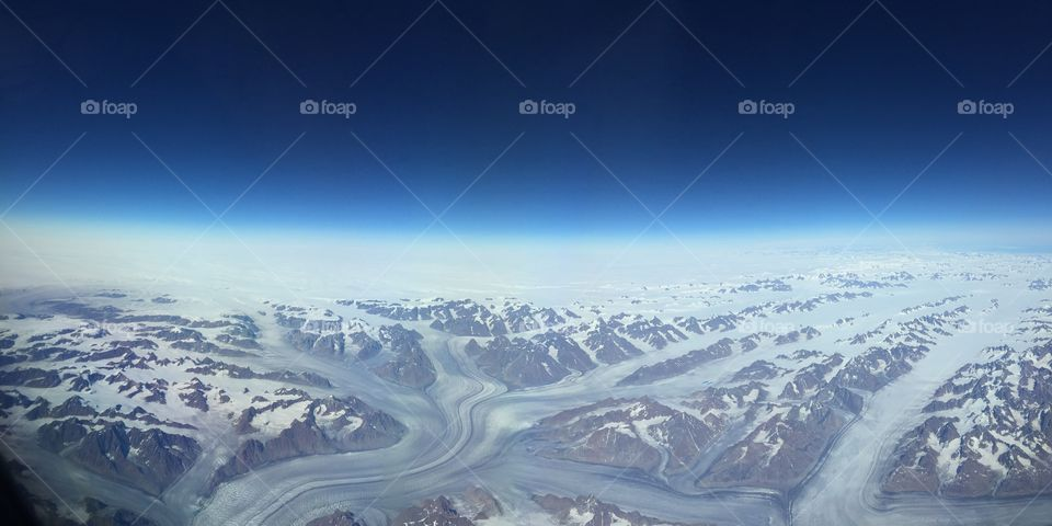Greenland from the Edge of Space