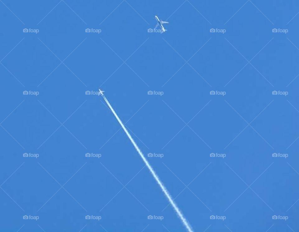 Aviação. Sinal no céu