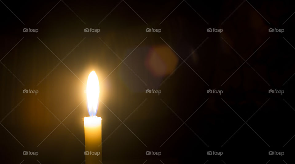 Close-up of candle