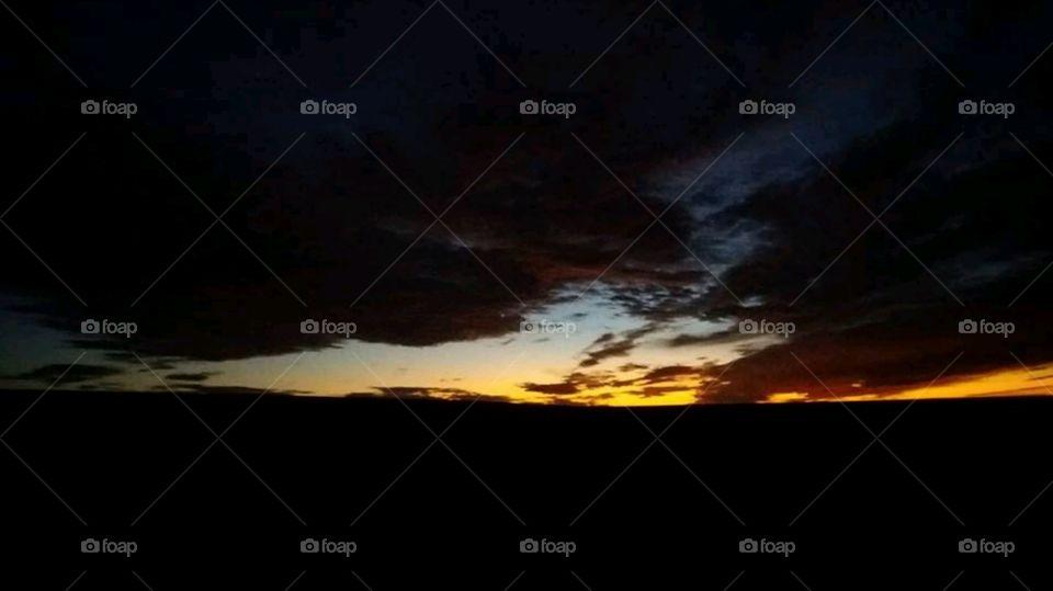 Sunset from  Farm Zaer Morocco