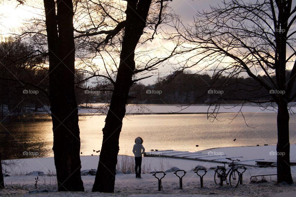 Winter in Stockholm Sweden