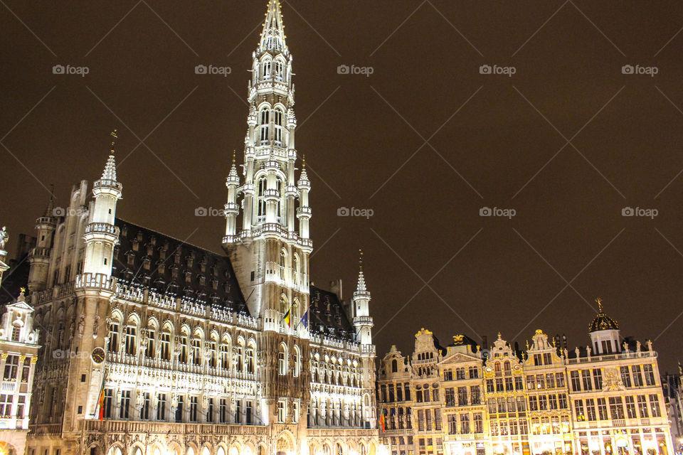 City Hall and Hotel de Ville, Brussels, Belgium