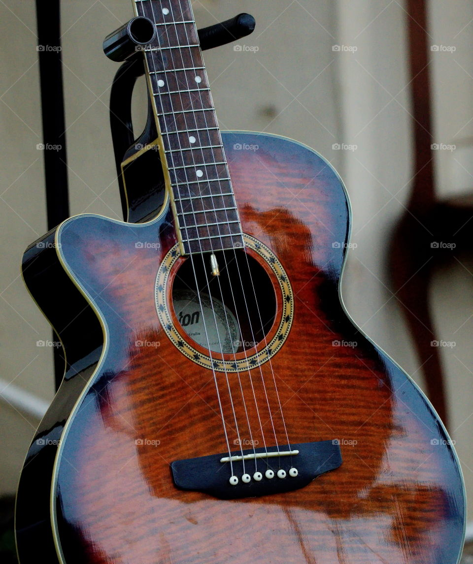 Maton guitar close up
