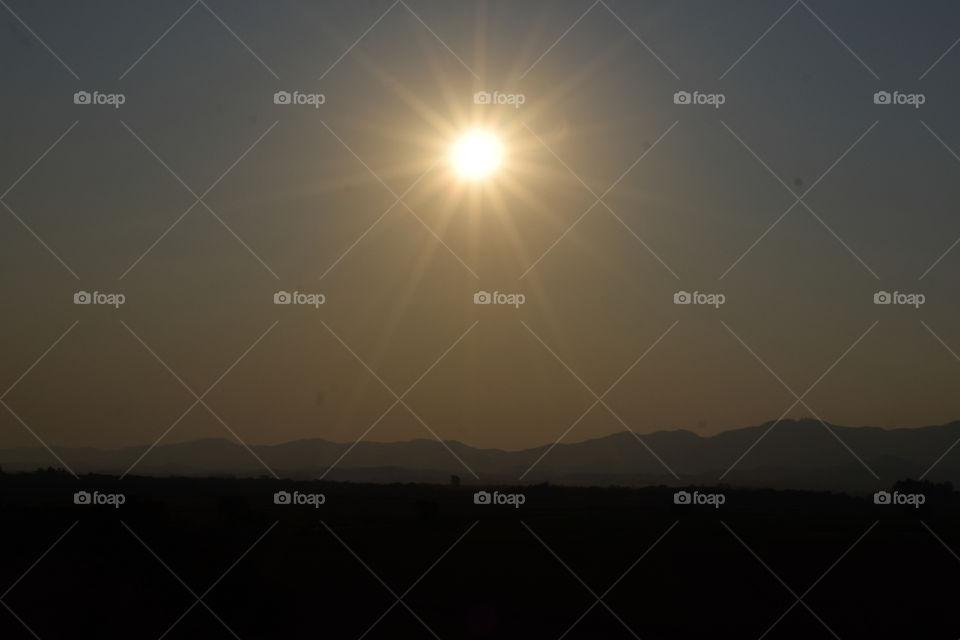 Beautiful sunset and its rays!