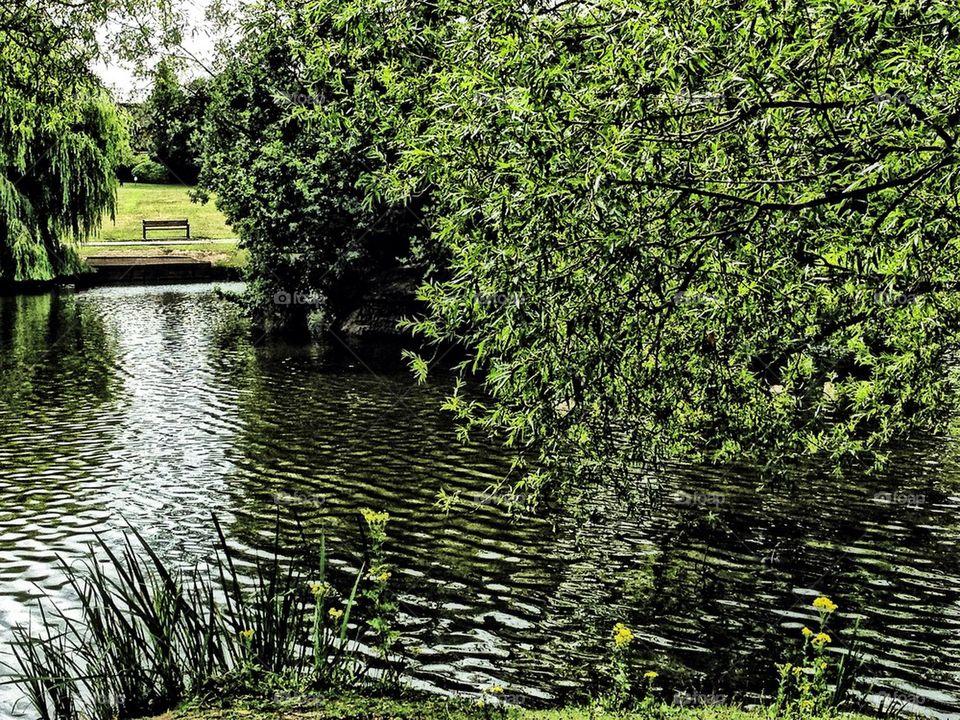 Rippling lake