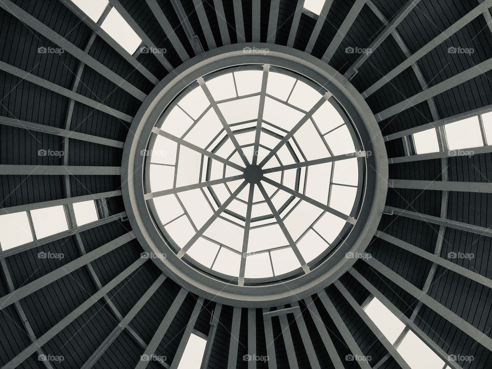 Architectural delightful skylight at the mall in Florida