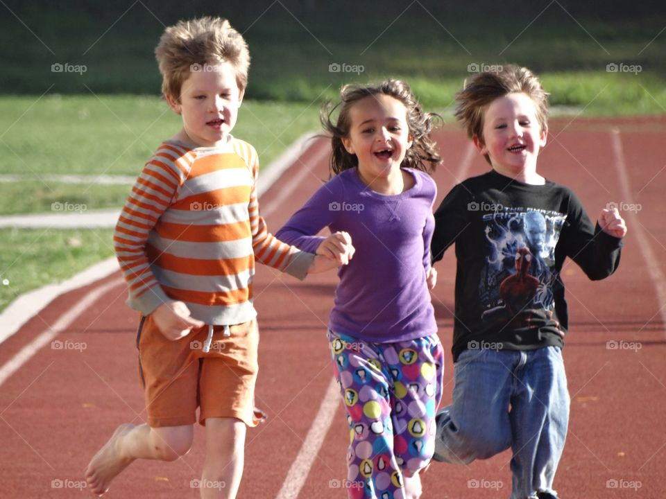 Joyful Children Running