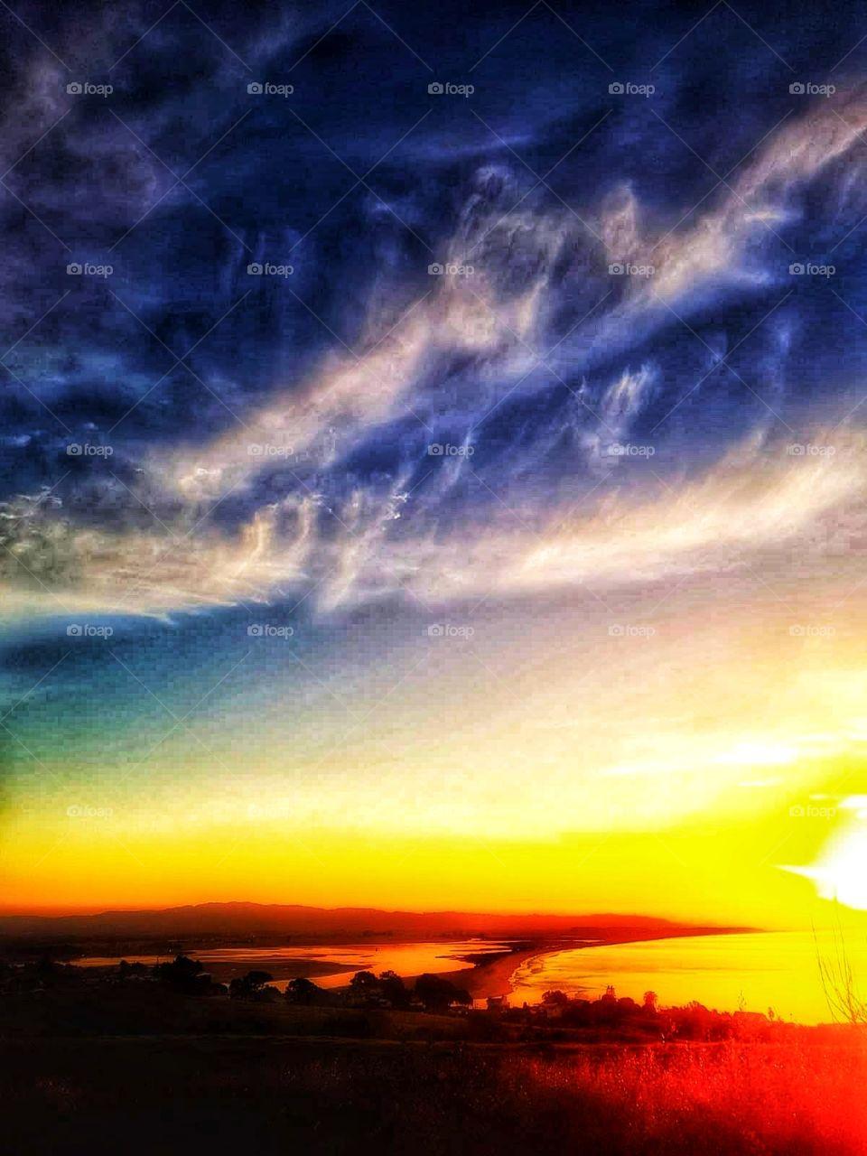 Sunset. New Zealand. North Island.