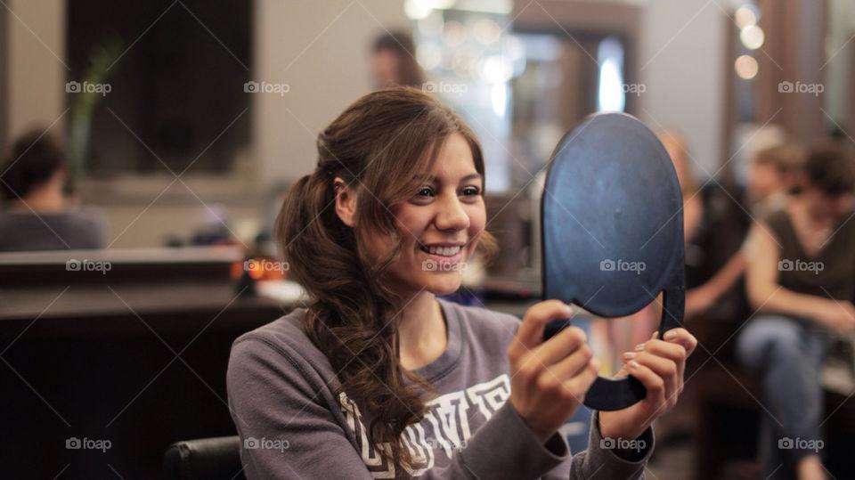 girl pretty mirror hair by devinpense