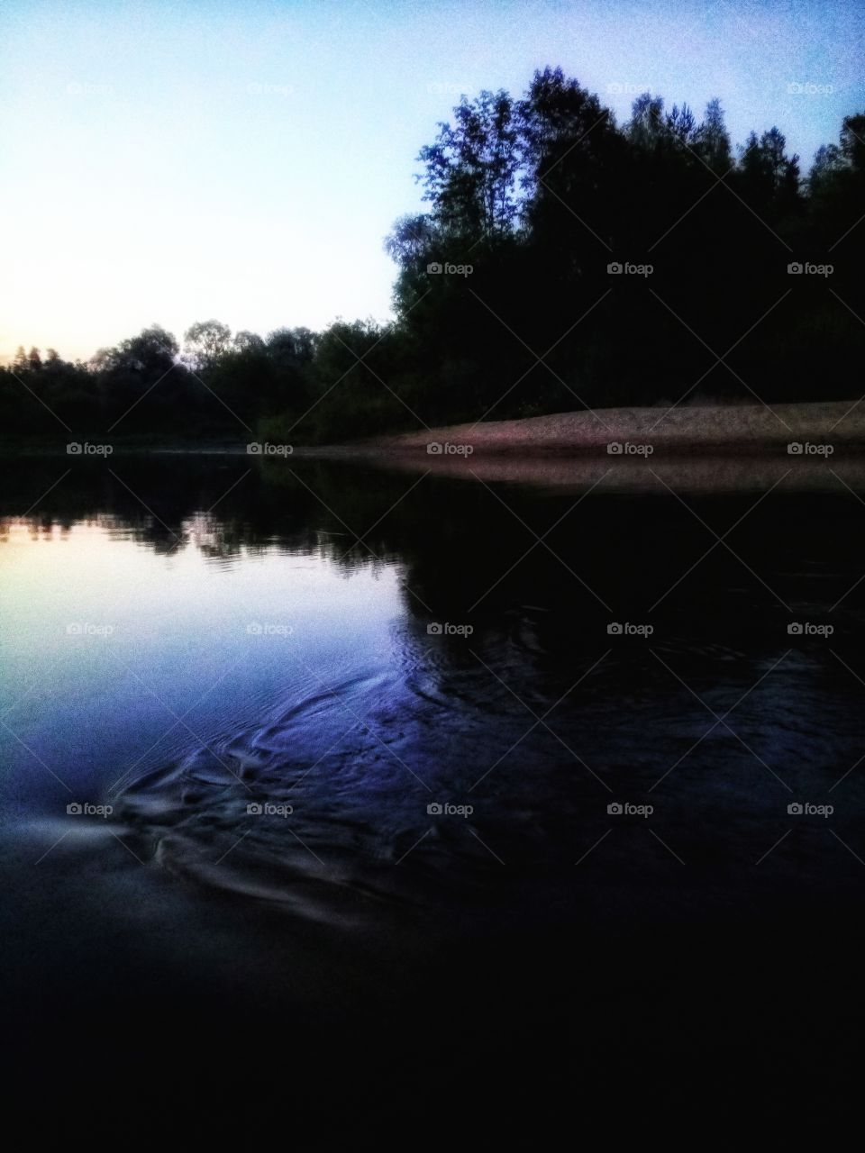 River after Sunset