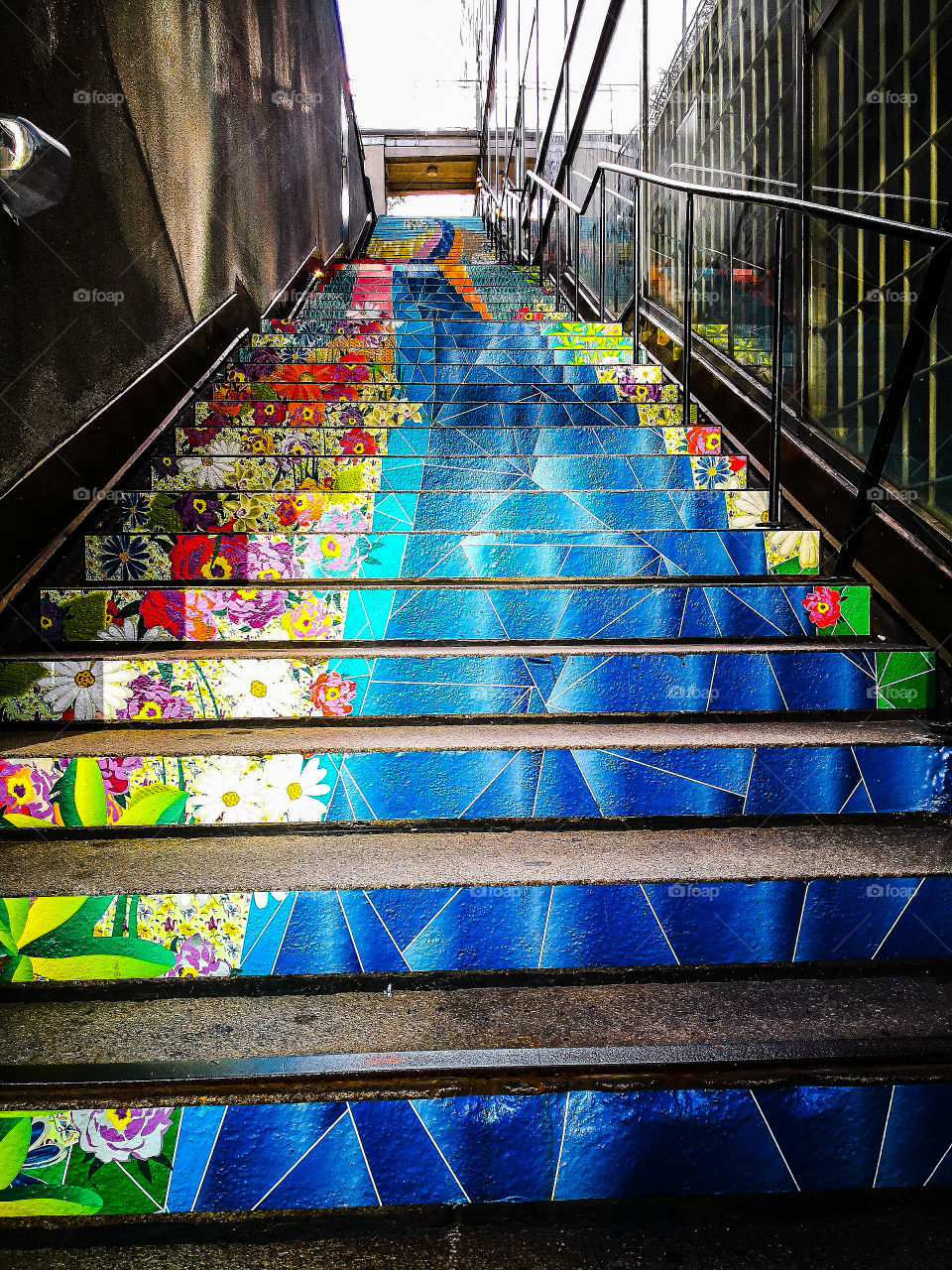 Painted fun stairs.