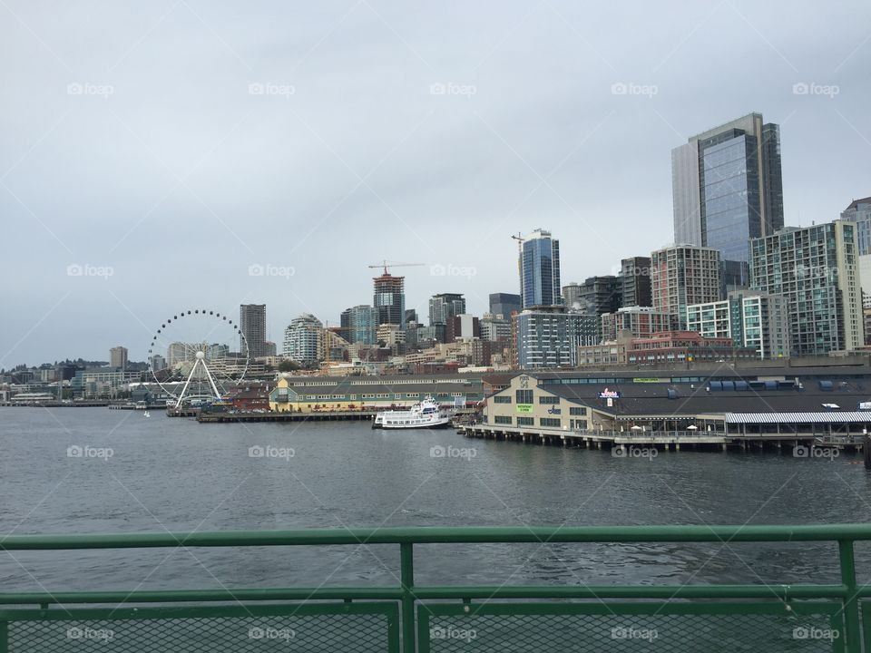 City, River, Skyline, Water, Architecture
