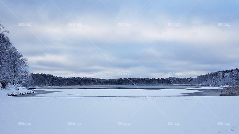 Winter , snow lake forest - vinter, snö sjö skog
