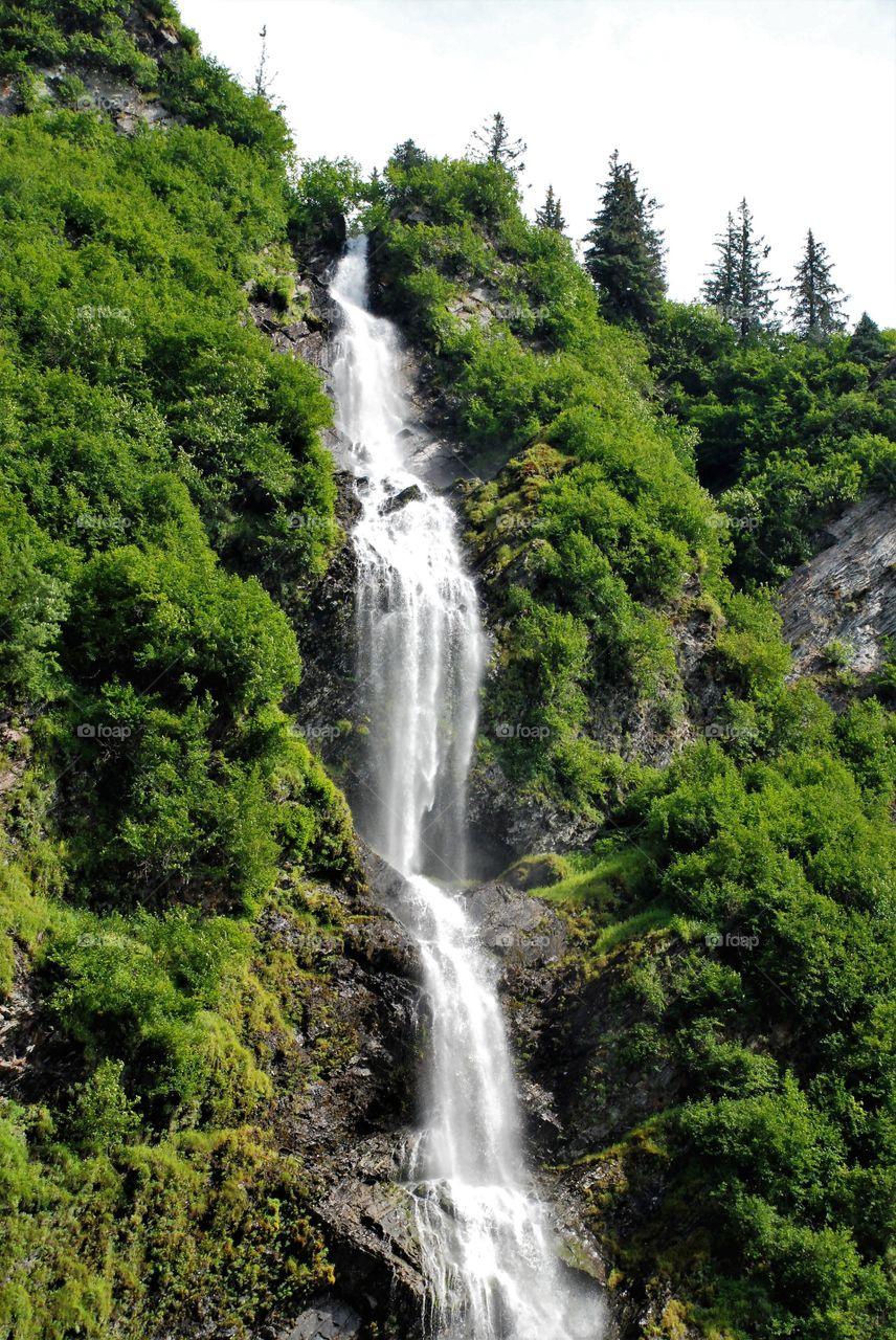 Waterfall in Thompson Pass Alaska