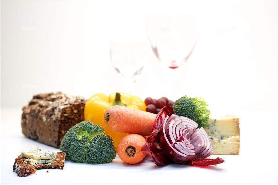 Studio shot of vegetables