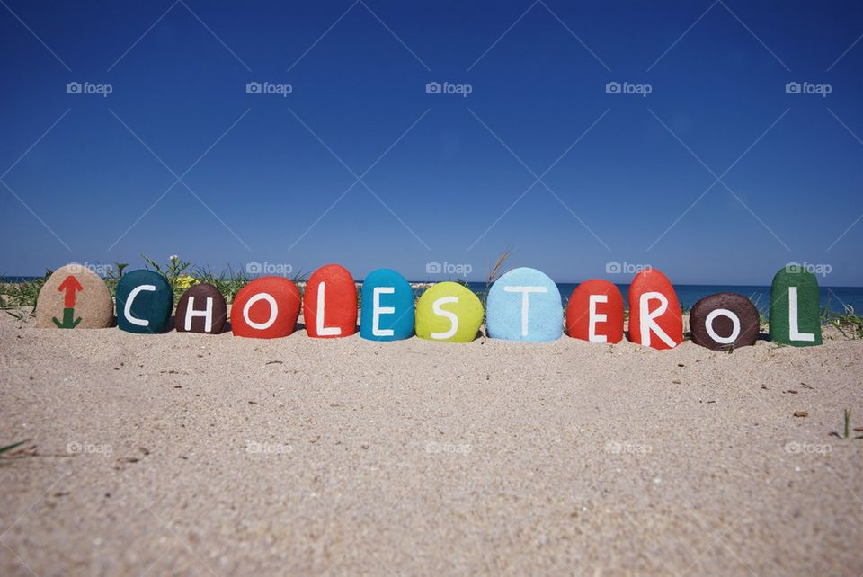 Cholesterol on colourful stones