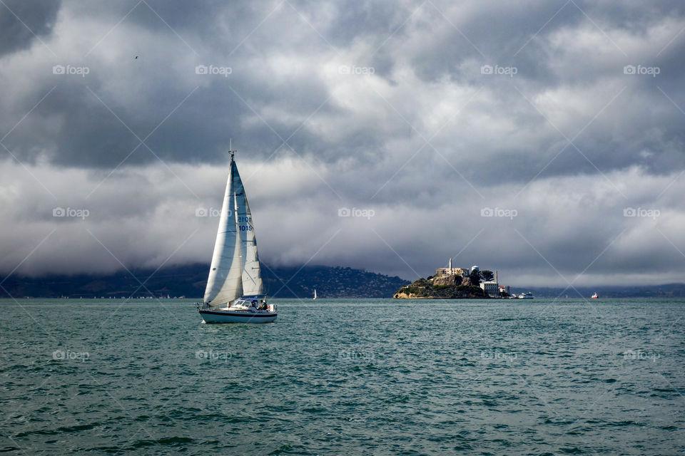 Sailing Near Alcatraz