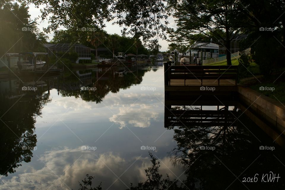 Peaceful Canal Reflections