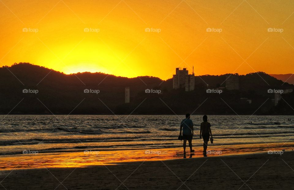 Praia do Gonzaga / Santos Beach Brazil