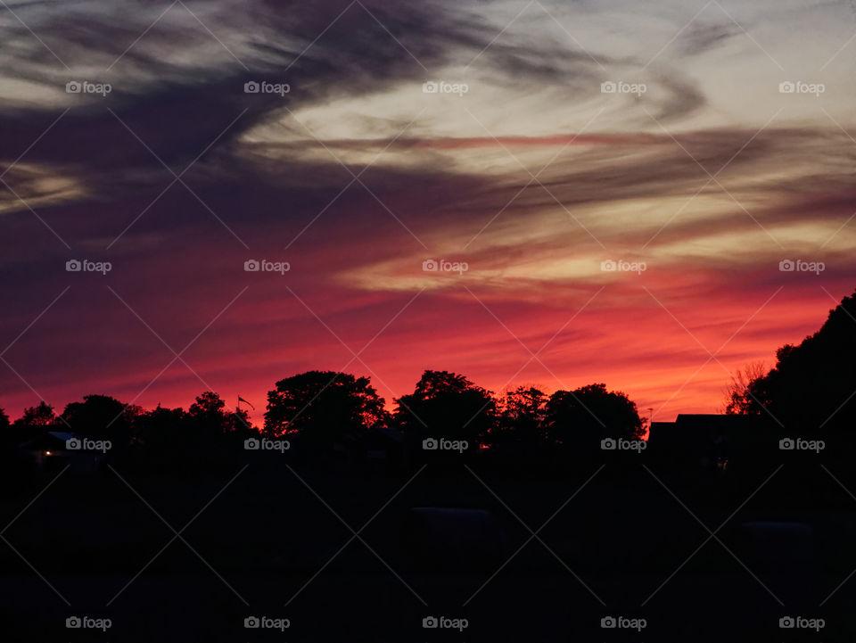A burning sunset in Kalmar