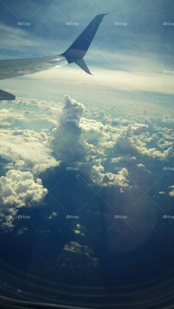 Clouds in the sky. Aerial view