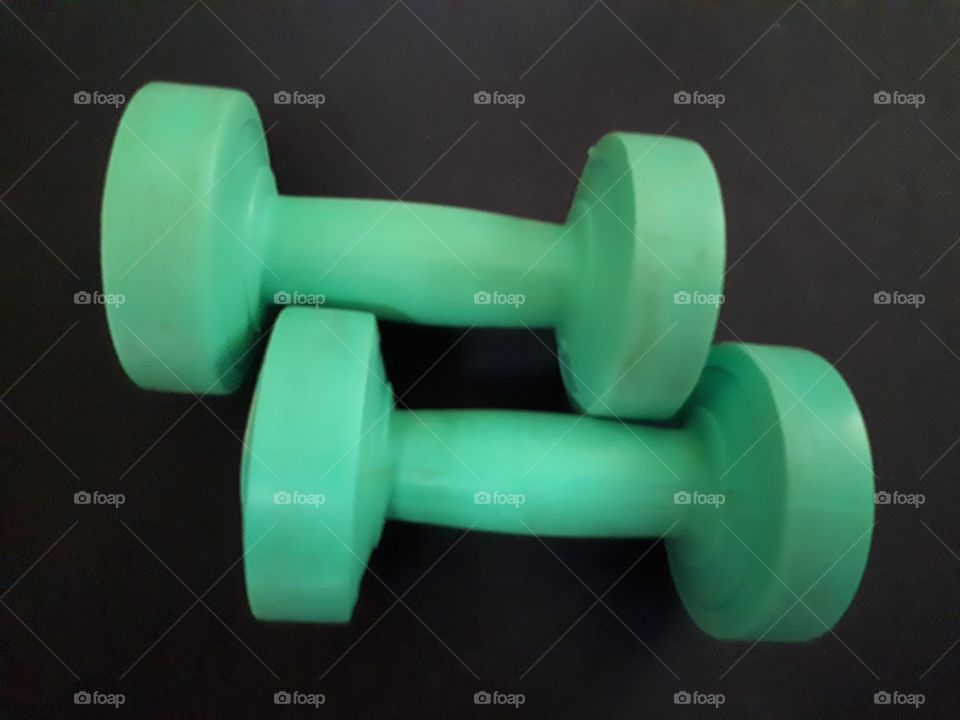 Green  dumbbells