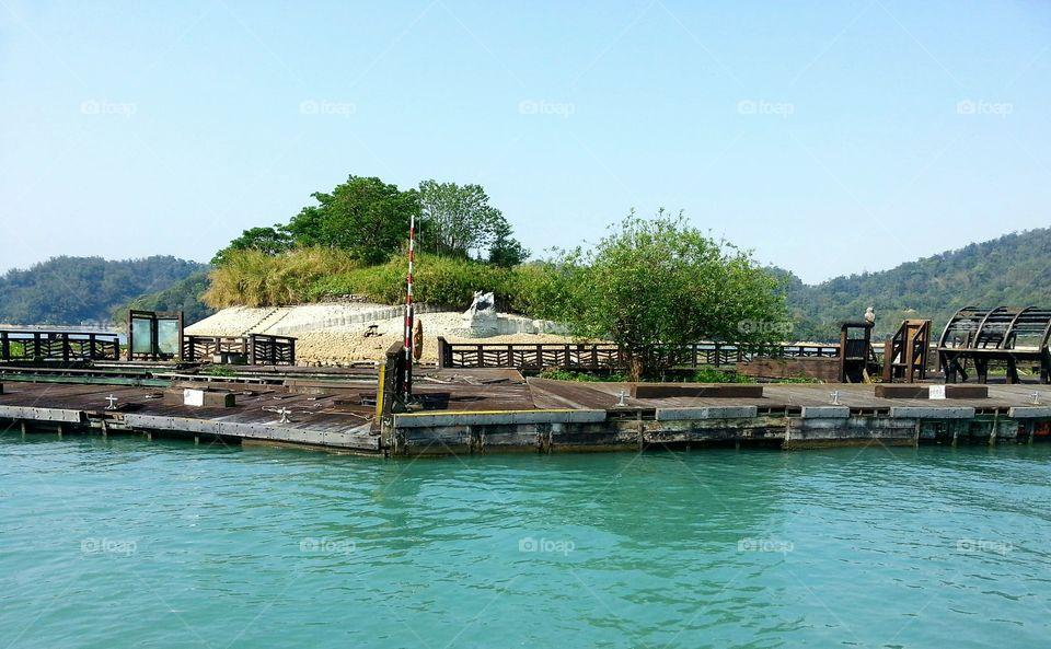 The small Lalu Island in Sun Moon Lake, Taiwan