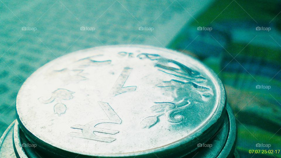 ₹1 coin, Indian currency
