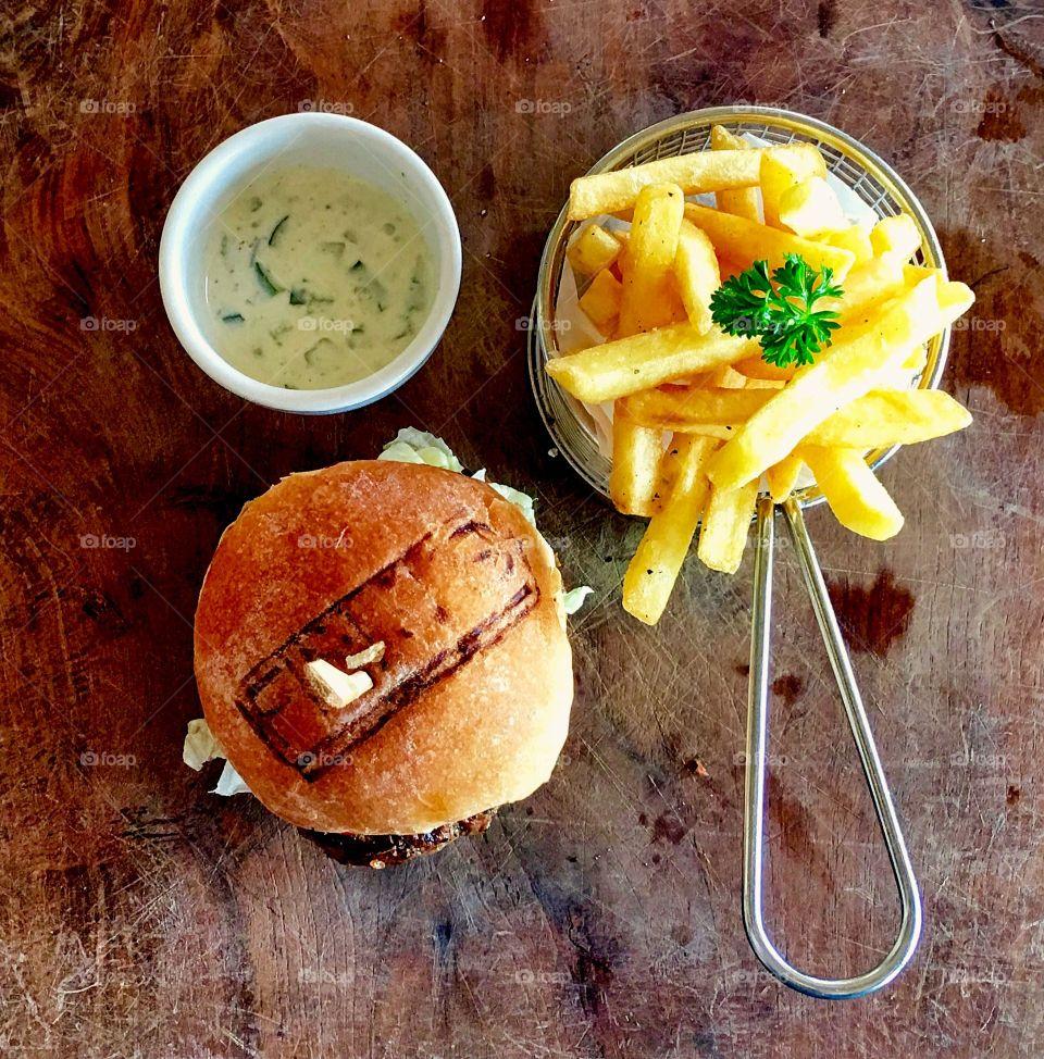 Mediterranean Burger and Fries, Bali