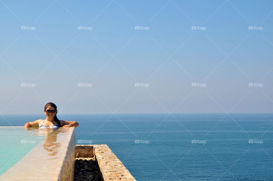 landscape beach ocean girl by vpsphotography