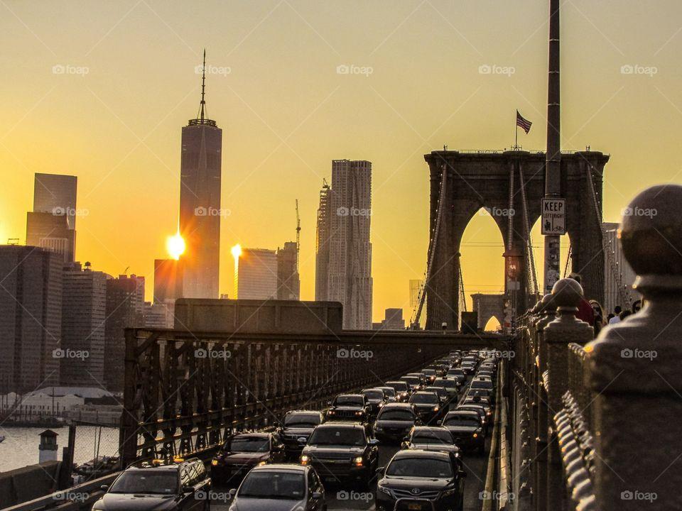 Brooklyn Rush Hour Sunset