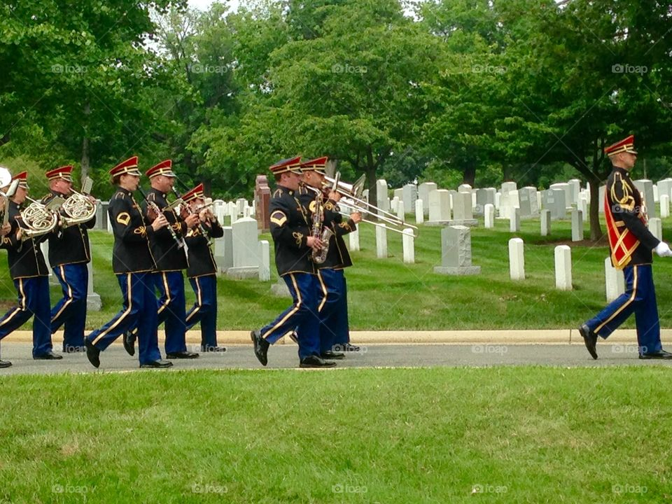 Band at Cemetery