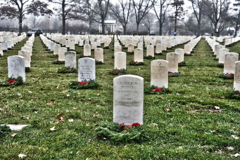 Cemetery for fallen soldiers