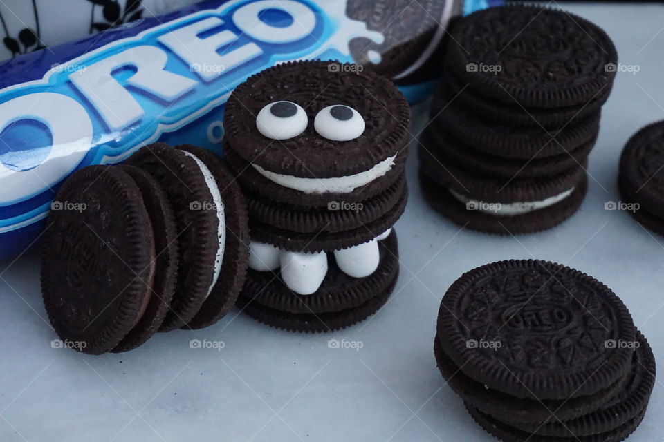 Smiley Oreo Cookie Monster
