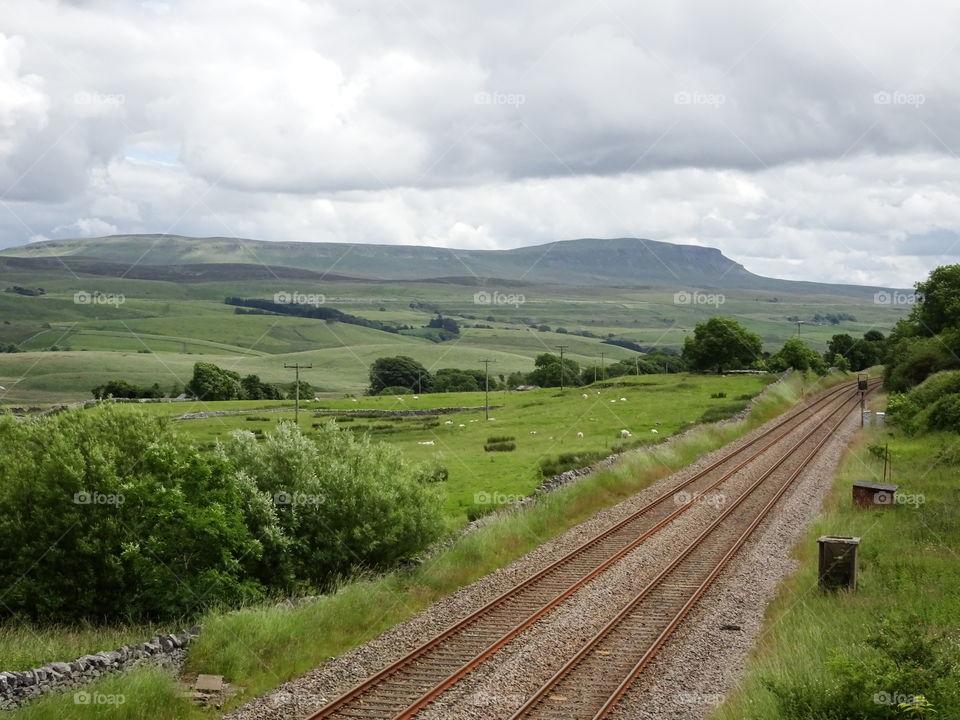 Scenics view of railroad track