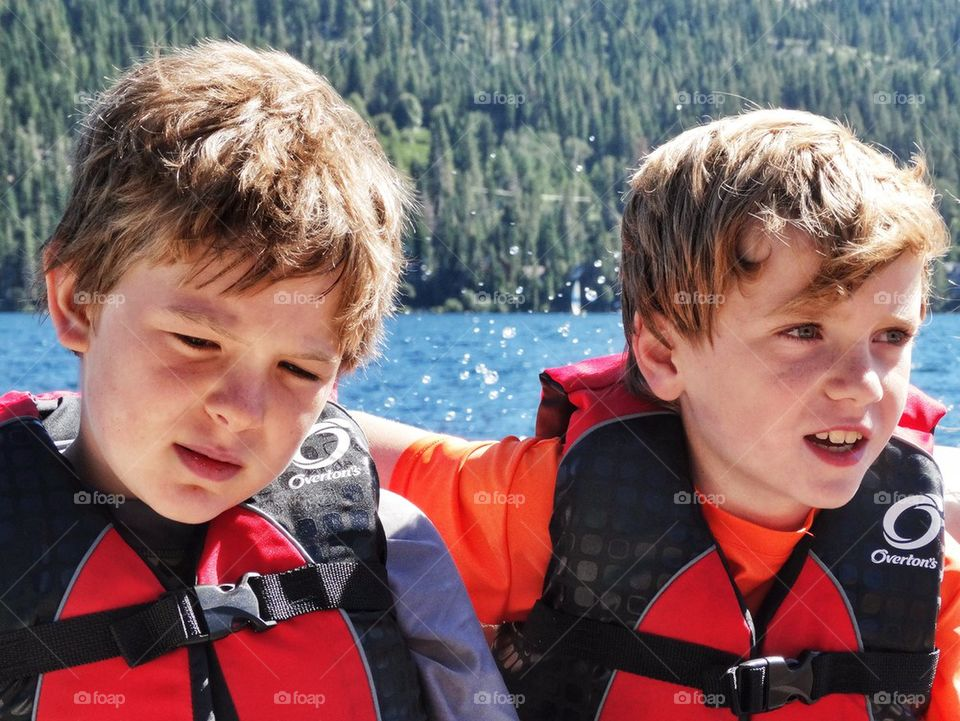 Young Brothers On A Boat