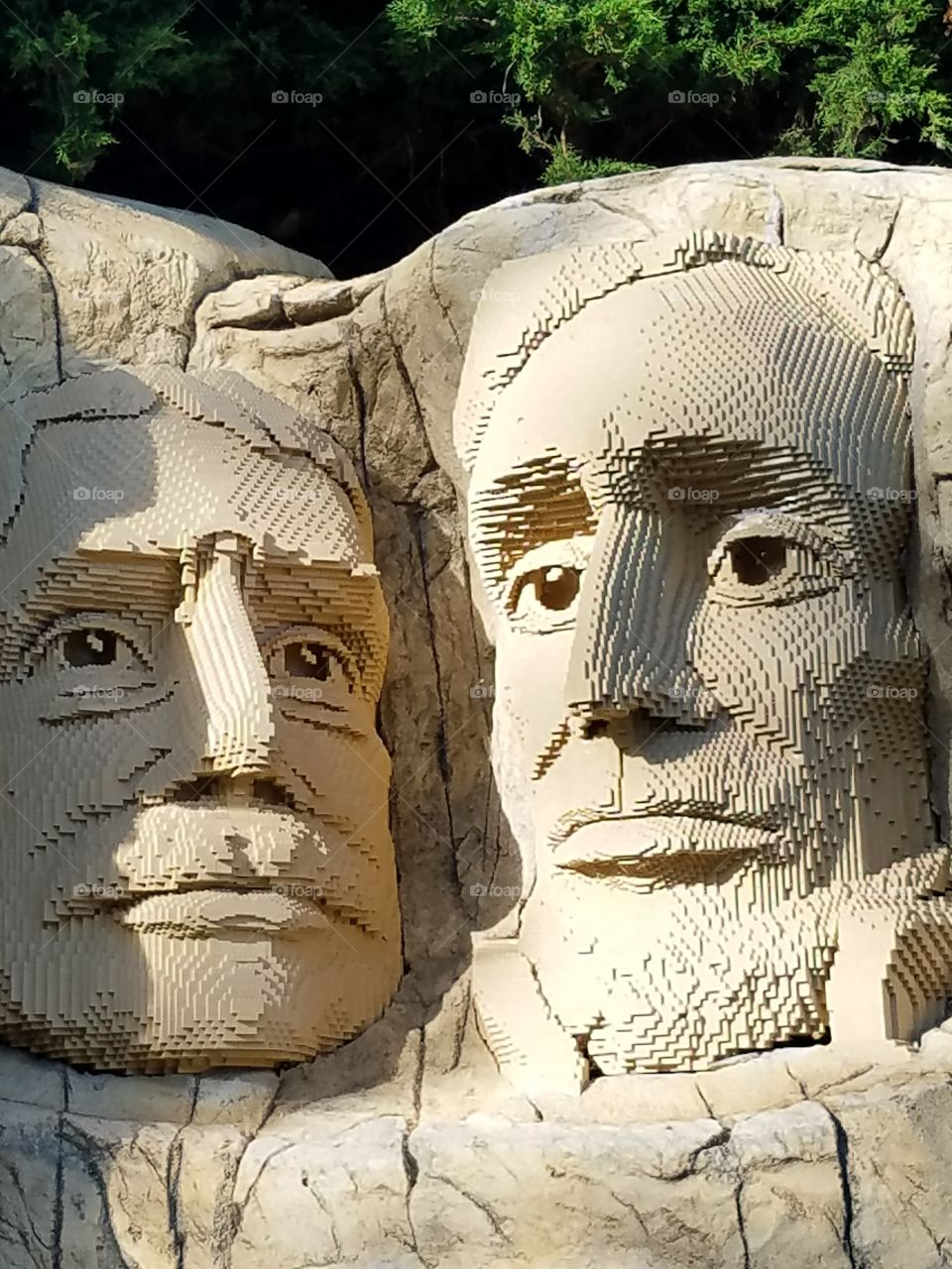 Lego Sculptures of US Presidents