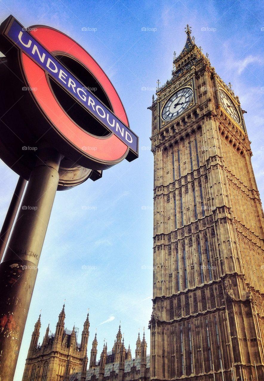 united kingdom london monument / landmark london underground by lateproject